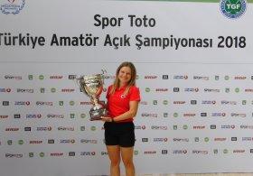 Spor Toto Türkiye Amatör Açık Şampiyonası'nda Kupa Damla Bilgiç'in Oldu