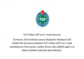 TGF Türkiye Golf Turu 9. Ayak Duyurusu